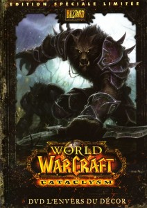 Boîte du DVD de making of du jeu Cataclysm (World of Warcraft)
