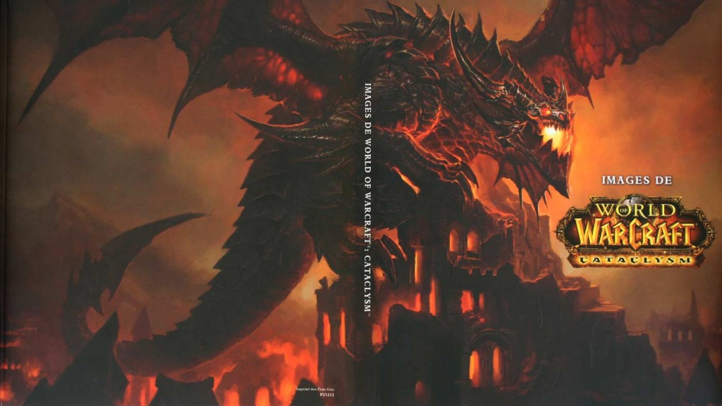 face et dos de la couverture de l'art book Cataclysm (World of Warcraft)