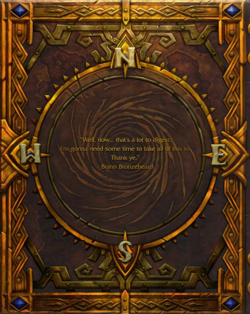 Dos de la couverture cartonnée de l'art book Cataclysm (World of Warcraft)