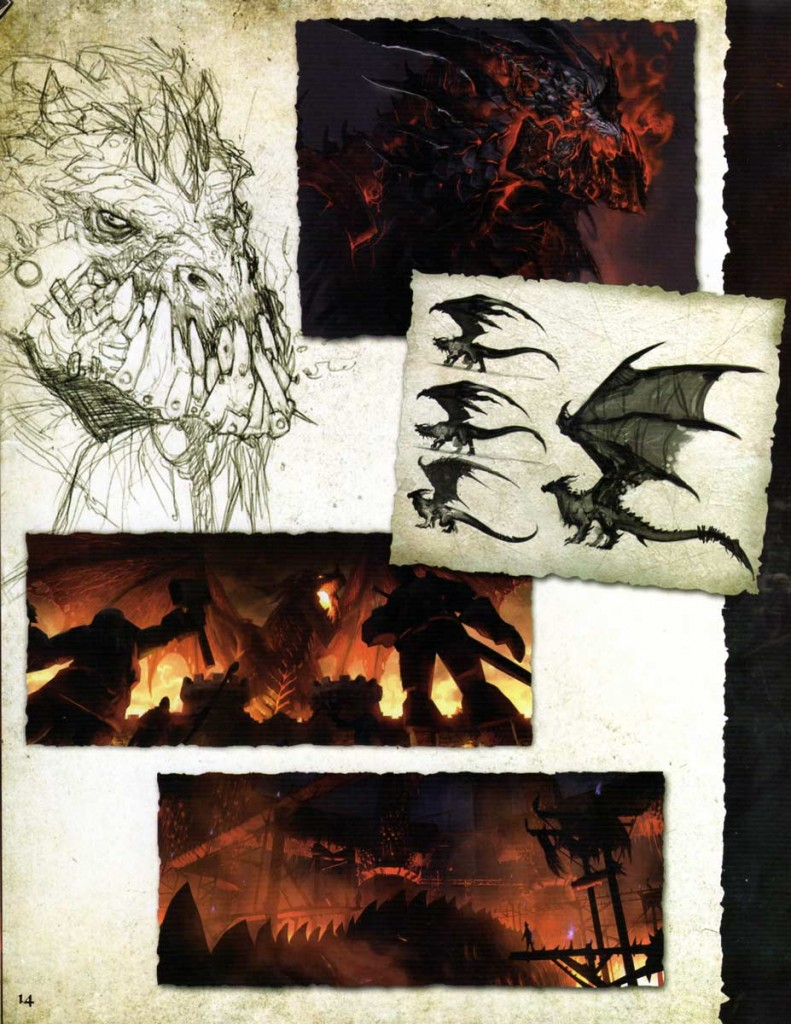 Page 14 de l'Art book Cataclysm (World of Warcraft)