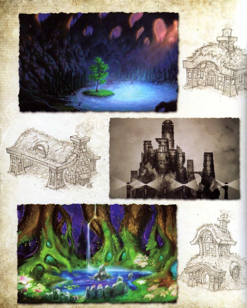Page 40 de l'Art book Cataclysm (World of Warcraft)