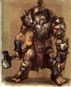 Page 41 de l'Art book Cataclysm (World of Warcraft)