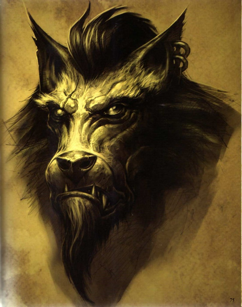 Page 75 de l'Art book Cataclysm (World of Warcraft)