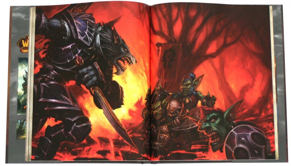 Page 104 de l'Art book Cataclysm (World of Warcraft)