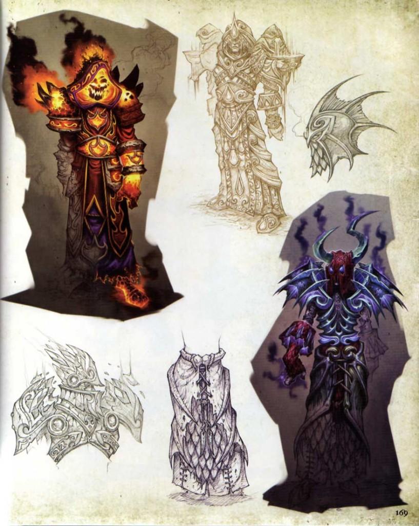 Page 169 de l'Art book Cataclysm (World of Warcraft)