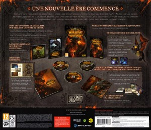 Feuille de description du contenu de la Box Collector Cataclysm (World of Warcraft)