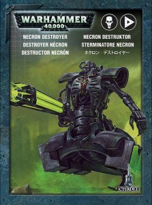 Packaging du Destroyer Necron (Warhammer 40.000)