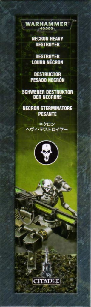 côté gauche du Packaging du Destroyer Lourd (Warhammer 40.000)