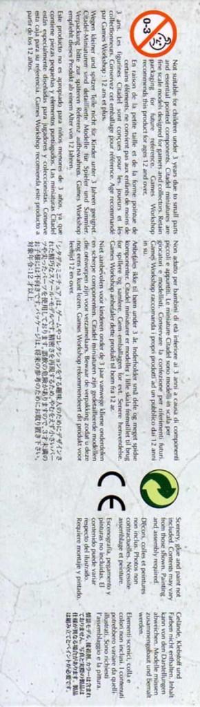 côté droit du Packaging du Destroyer Lourd (Warhammer 40.000)