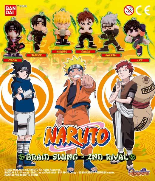 Série de Gashapons contenant des portes-clés Naruto