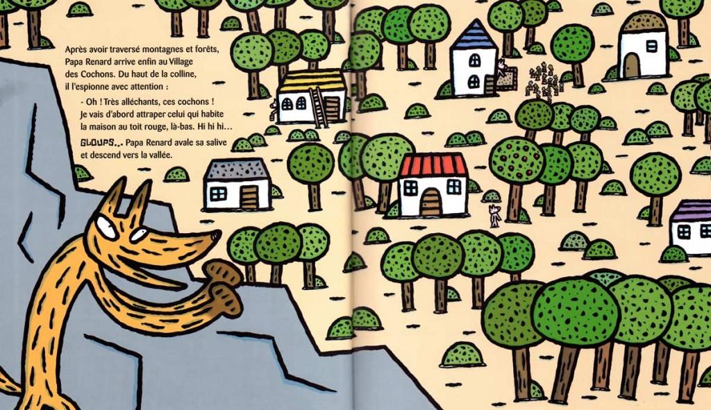 Page 4 et 5 de Papa Renard en croque pour les cochons (nobi nobi !)