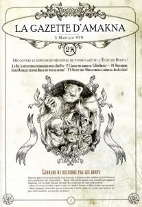 On trouve après la BD une imitation de journal appelé la Gazette d'Amakna