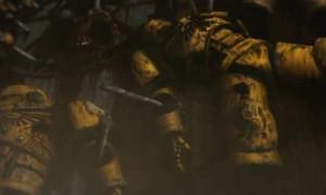 Les cadavres des Space Marines sont mutilés
