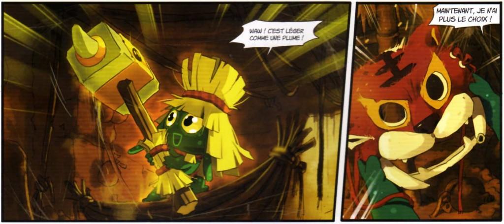 Percimol trouve le masque et le marteau de l'Epouvantail (Wakfu Heroes)