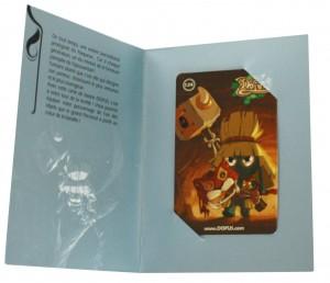 Carte de loterie pour le jeu Dofus permettant d'obtenir un élément de la Panoplie de Percimol