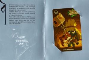Le packaging de la carte de loterie Dofus est lui aussi travaillé pour la mettre en valeur