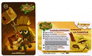 la carte de loterie Dofus contient un code qui permet d'obtenir un équipement de la Panoplie de Percimol