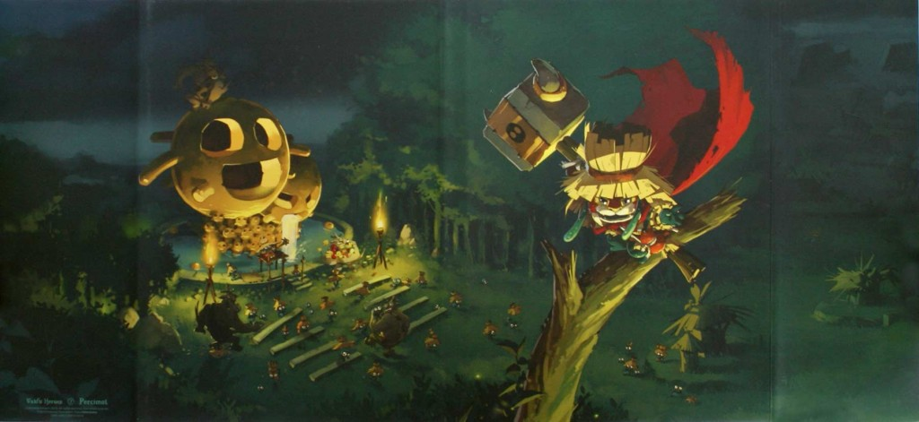 Couverture dépliée de la version collector du Tome 2 de Wakfu Heroes - Percimol