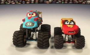 Flash et Martin affrontent le monstre du docteur Frankenwagen (Cars - Pixar)