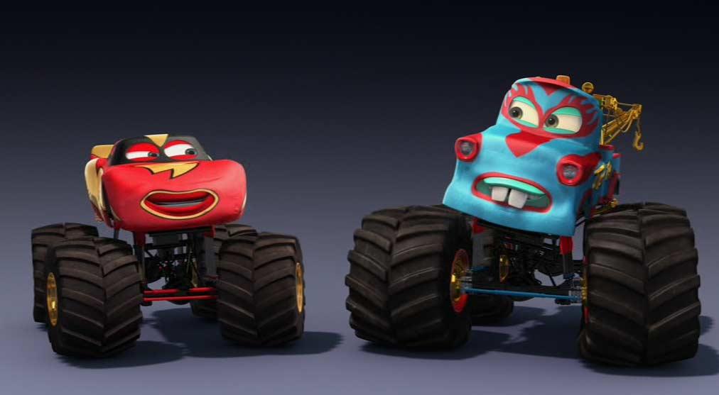 Finalement Flash et Martin sont devenus champion du monde de catch (Cars - Pixar)