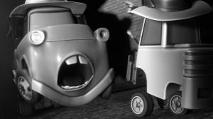Pour intimider Martin et lui faire peur, ils lui arrachent un phare (Cars Toon - Pixar)