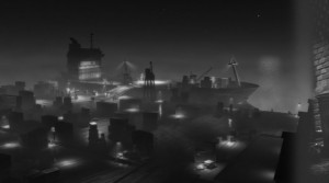 Martin arrive aux docks où se trame quelque chose (Cars Toon - Pixar)