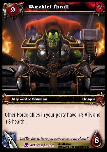 Image de Thrall dans le jeu de carte Warcraft