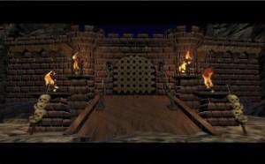 Cette image est celle vue quand le jeu charge. Une voix off décrit l'univers et les raisons des combats entre humains & orcs.