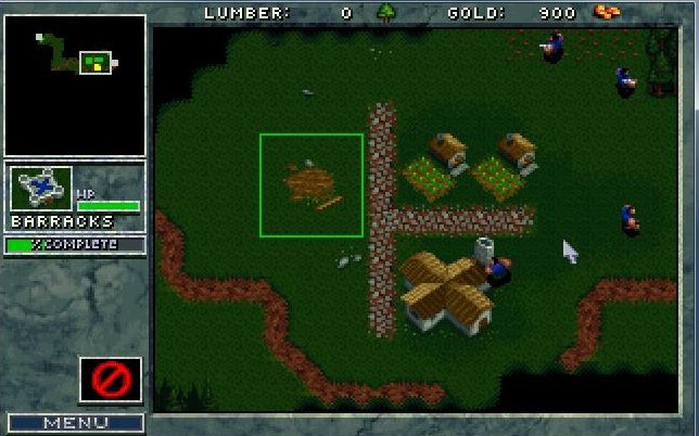 Warcraft 1 : interface humaine & construction de bâtiment