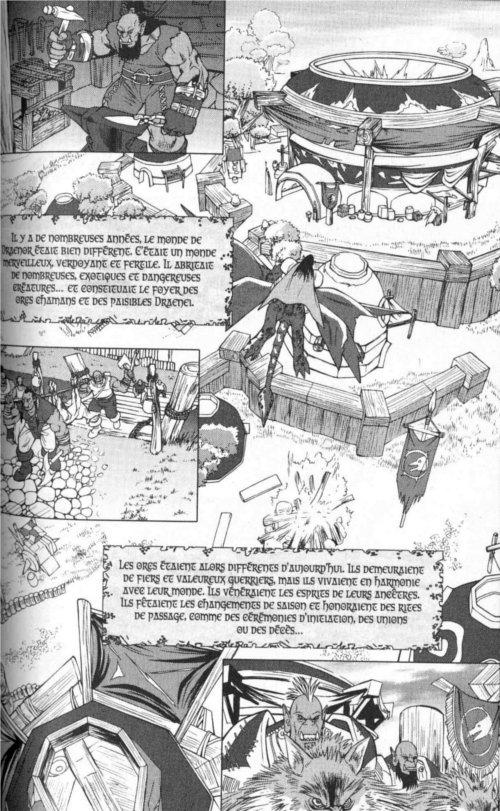 Page 1 du chapitre L'apprentissage d'une guerrière, tiré de Warcraft Legends tome 4