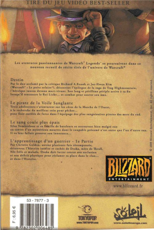 Dos du tome 4 de Warcraft Legends