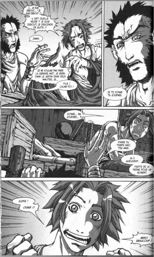 Page 2 du chapitre le pirate de la voile sanglante, tiré de Warcraft Legends tome 4