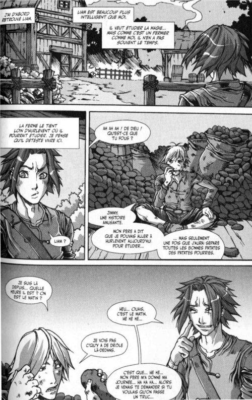 Page 5 du chapitre le pirate de la voile sanglante, tiré de Warcraft Legends tome 4