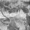 Tyri attaquée par un monstre dans le manga Warcraft le Puits solaire, tome 3 : les terres fantômes