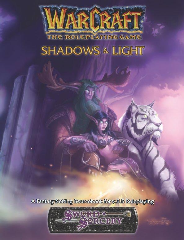 Couverture de l'extension Shadows & Light du jeu de rôle Warcraft