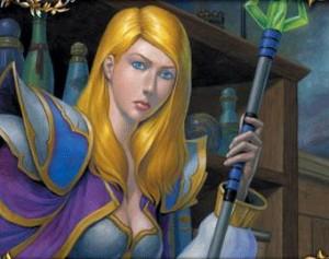 Jaina Portvaillant dans le jeu de carte Warcraft