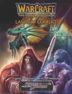 Couverture de l'extension Lands of Conflict du jeu de rôle Warcraft
