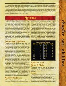 Page 1 sur la partie des héros du jeu de rôle papier Warcraft