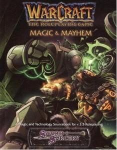 Couverture de l'extension Magic & Mayhem du jeu de rôle Warcraft