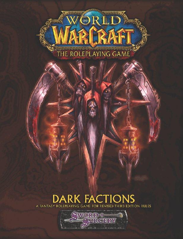 Couverture de l'extension Dark Faction du jeu de rôle Warcraft