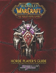 Couverture de l'extension Horde Player's Guide du jeu de rôle Warcraft