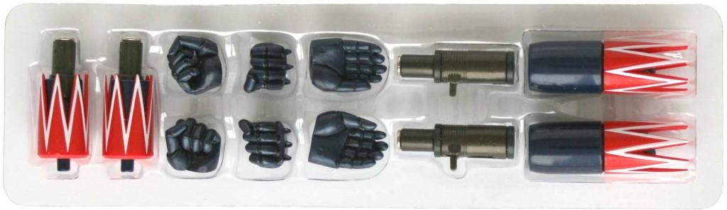 Voici les 4 paires de mains disposnibles