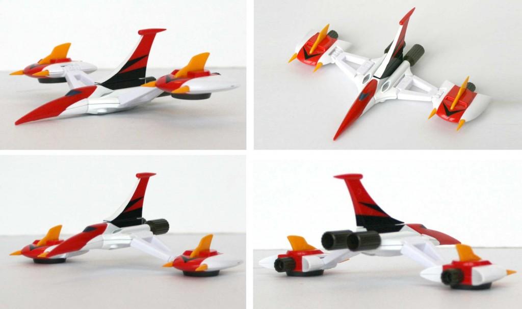 Les ailes d'Alcorak sont modulables comme dans la série TV