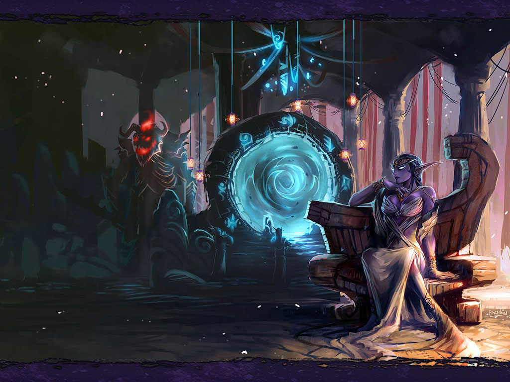 Azshara attend la venue de Sargeras en espérant devenir son consort. C'est le début de la guerre des anciens.