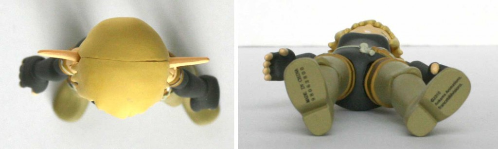 Vue de dessus et de dessous de la figurine Wakfu DX N°03 : Evangelyne