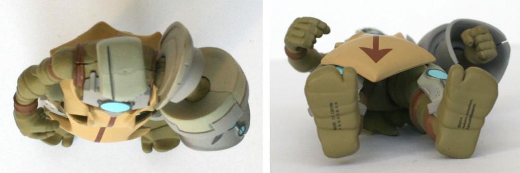 Vue de dessus et dessous de la figurine DX de Nox (Wakfu)