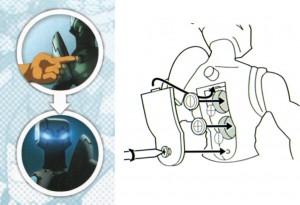 Un interrupteur permet d'allumer les yeux e Nox