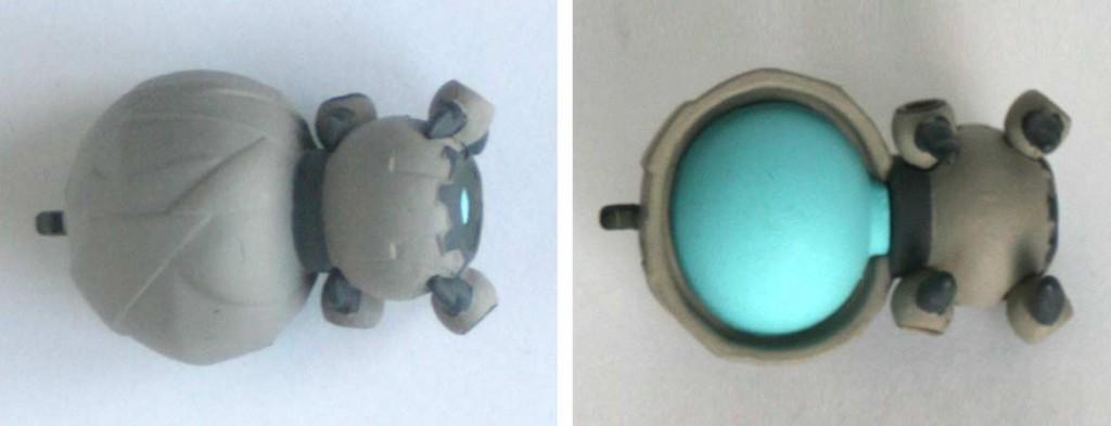 Vue de dessus et de dessous de la figurine Wakfu DX N°06 : Noxine