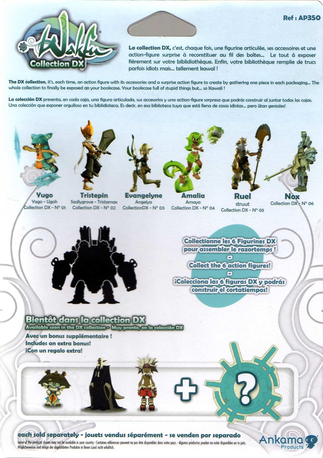 Wakfu action figure nox razortemps dofus jeux Ankama dx 6 new in box