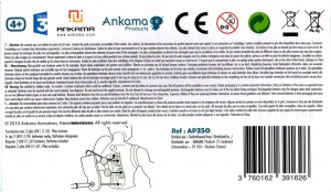 Dessous du packaging de figurine DX de Nox (Wakfu)